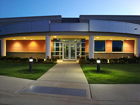 The front of CLGT's new home at the Michael S. Morgan Business Accelerator Building in Stillwater, OK